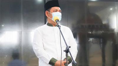 Bupati Solok Shalat Idul Adha di Masjid Agung Nurul Muchlisin Islamic Center Koto Baru