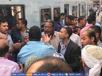 مظاهرات داخل محطة مترو حلوان