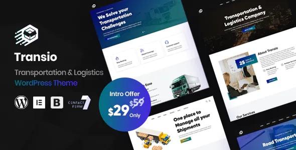 Best Transportation & Logistics WordPress Theme