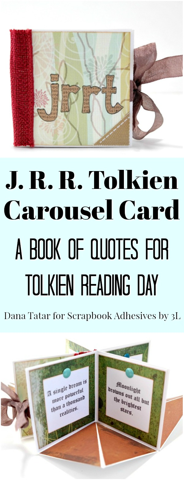 J.R.R. Tolkien Carousel Card Quote Book by Dana Tatar forScrapbook Adhesivesby 3L