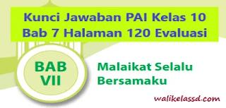 Kunci Jawaban PAI Kelas 10 Bab 7 Halaman 120 Evaluasi