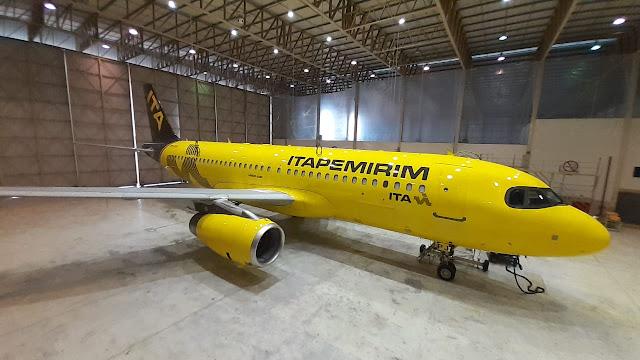 Pintado com sucesso! O primeiro avião da Itapemirim, a mais nova companhia aérea do Brasil   É MAIS QUE VOAR