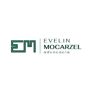 Logotipo criado para Evelin Mocarzel Advocacia por Minuta Linguagem Visual
