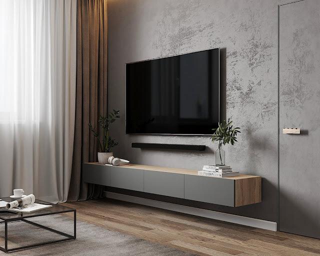 Thiết kế và thi công hoàn thiện nội thất căn hộ chung cư Celadon City quận Tân Phú - Phòng khách