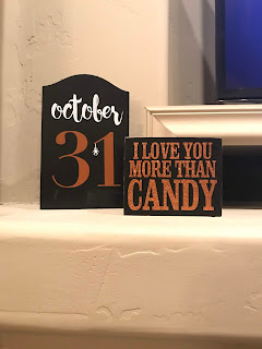 Orange and black halloween signs