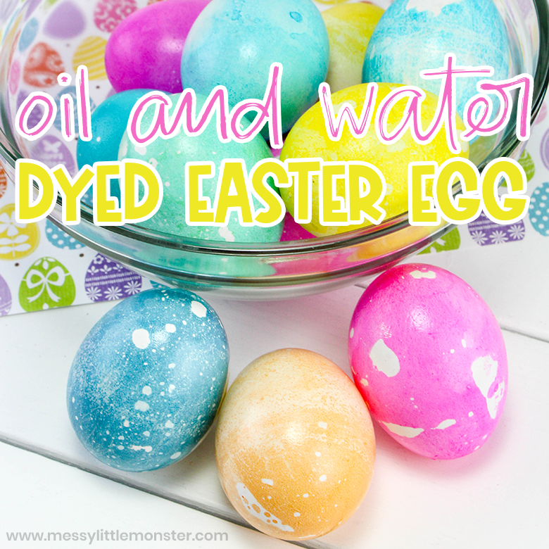 How to Dye Easter Eggs: Coloring Easter Eggs with Oil and Water
