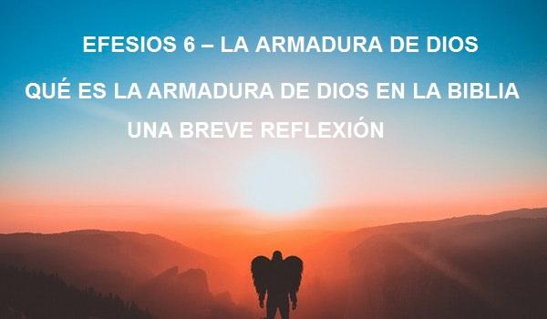 EFESIOS 6 – LA ARMADURA DE DIOS