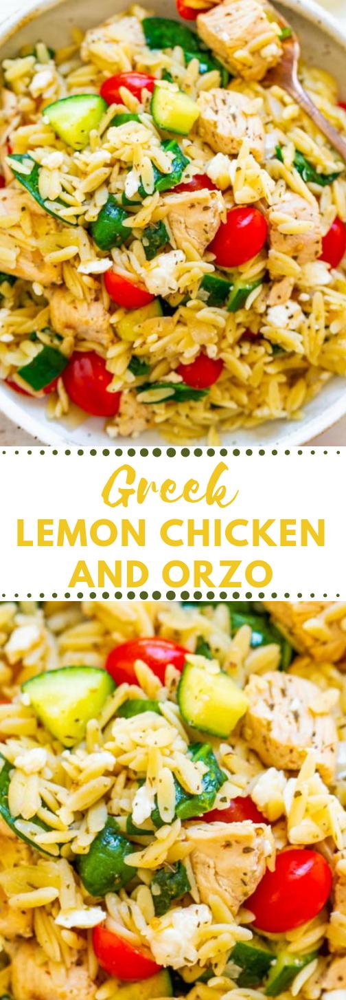 Greek Lemon Chicken and Orzo #lemon #vegan #bowl #recipes #vegetables