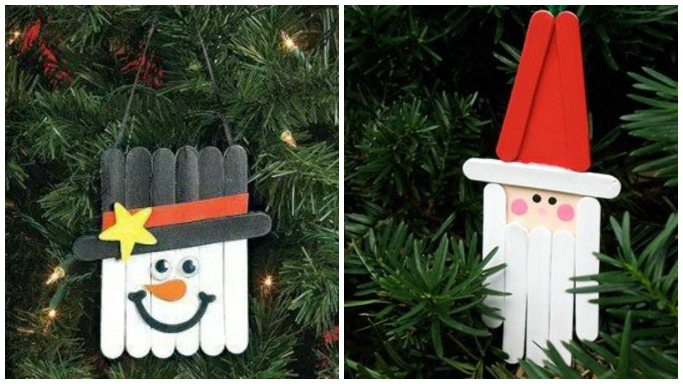 10 manualidades navide as creativas con palitos de madera - Manualidades navidenas faciles para ninos ...