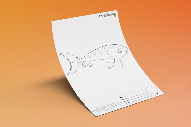 Free Printable simple Fish Template Coloriage Outline Blank Coloring Page pdf For Kids Pictures To Print Out Fun Colouring Pages Kindergarten Preschool Toddler 9