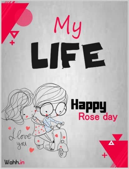 Amazing  Rose Day Status