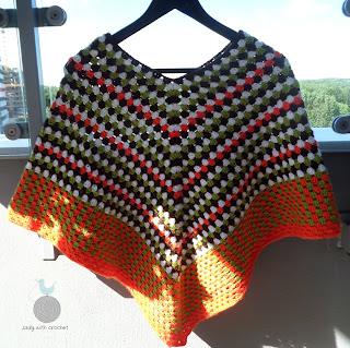 Kolorowe poncho