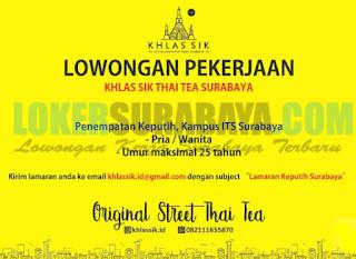 Loker Surabaya Terbaru di Klas Sik Thai Tea Terbaru April 2019