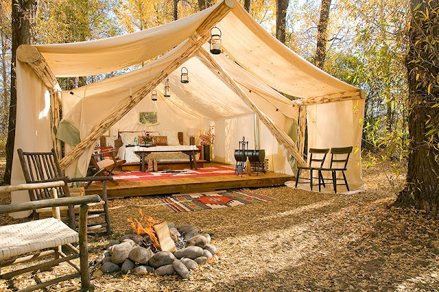 Glamping forget roughing it camp in style luxury tents - Camping de lujo en espana ...