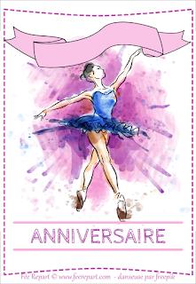téléchargez l'avant de la carte d'anniversaire thème danse classique