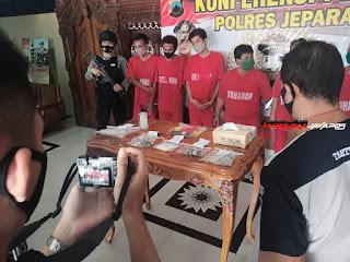Kasus Narkoba dan Obat Ilegal Jepara, 10 Kasus Berhasil diungkap Jajaran Polres Jepara