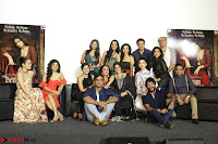 Vidya Balan with Ila Arun Gauhar Khan and other girls and star cast at Trailer launch of move Begum Jaan 026.JPG