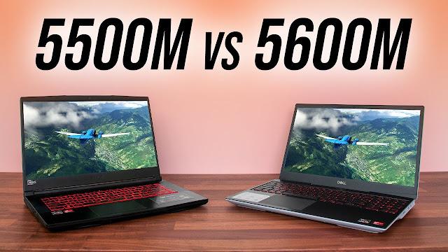 RX 5600M vs RX 5500M - 16 Game Laptop Comparison