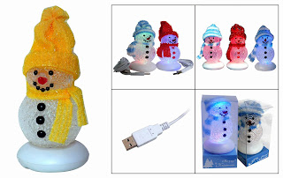 mini usb christmas snowman