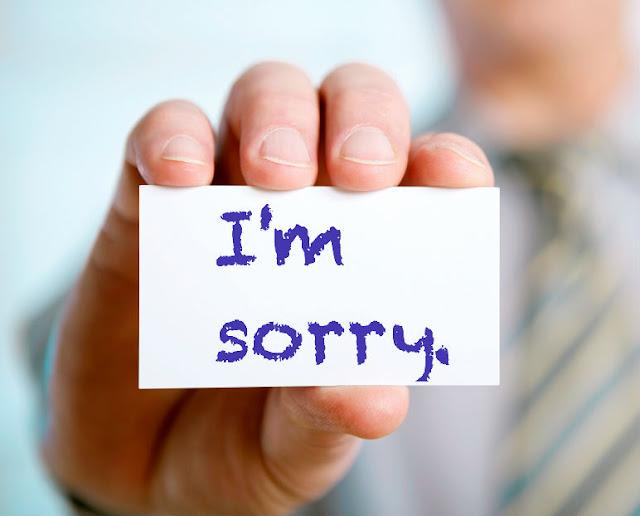 minta maaf atas kesalahan selama ini