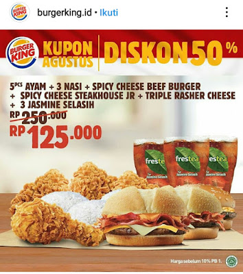 Diskon 50% Burger King