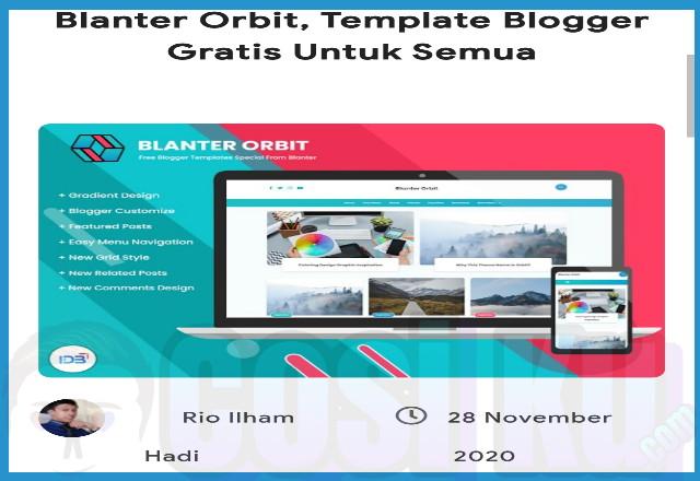 Mengenal Template Blanter Orbit, Menurut Saya?