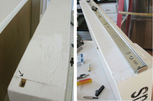DIY installing drawer slides