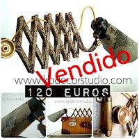 Tienda vintage online de flexos estilo industrial de fábrica antiguos marca bometal fabricados en España, barcelona.