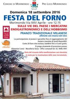 Festa del Forno Antico 18 Settembre Morimondo (MI) 2016