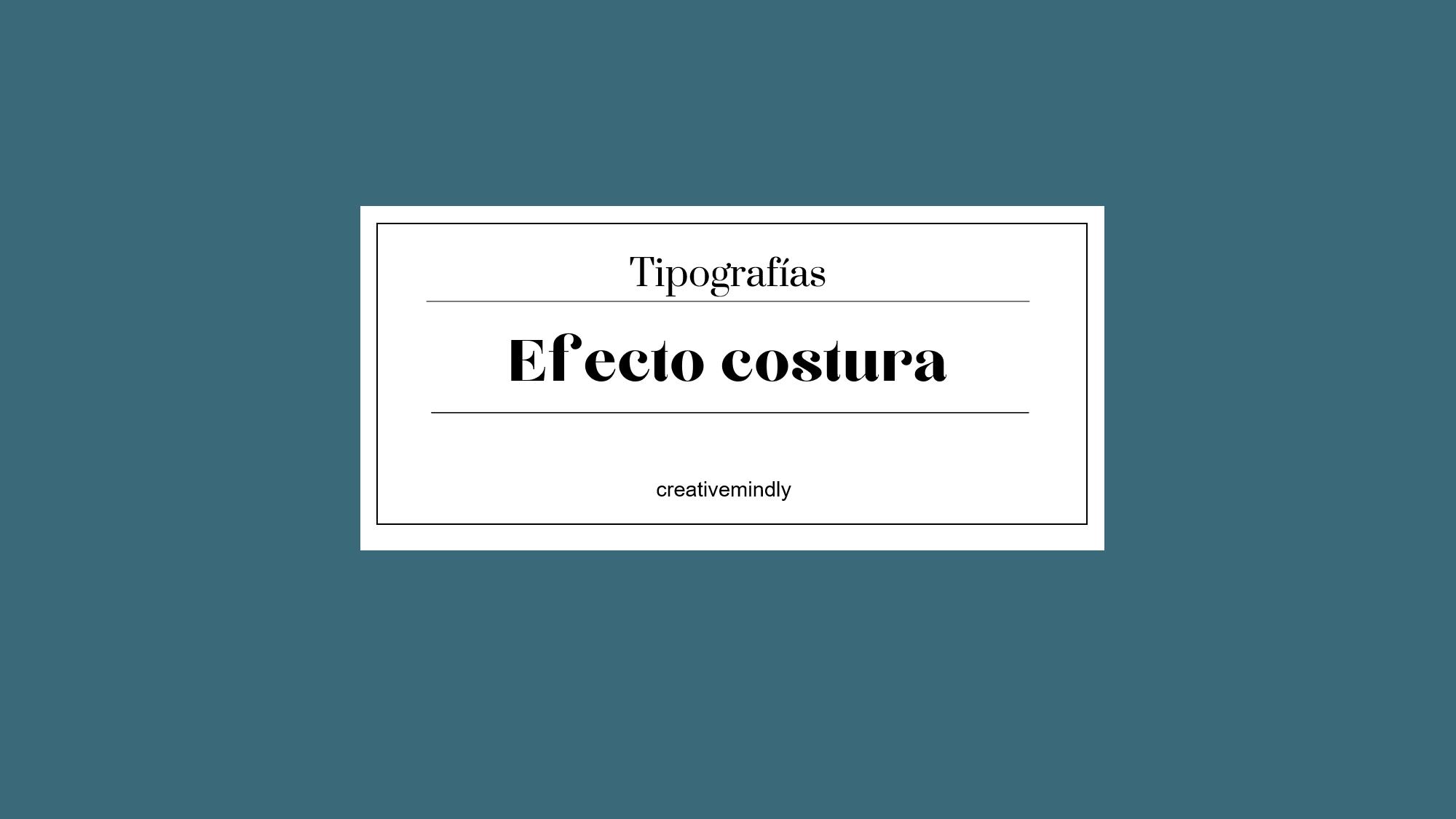 tipografías efecto costura