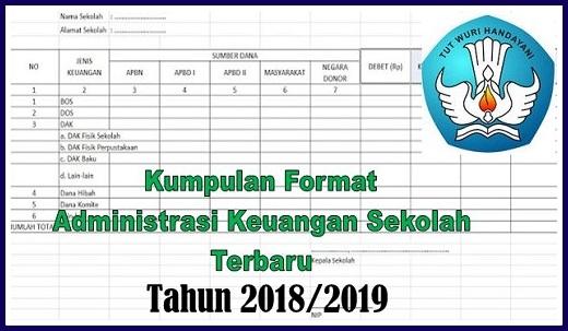 Contoh Administrasi Keuangan Sekolah Tahun 2018/2019