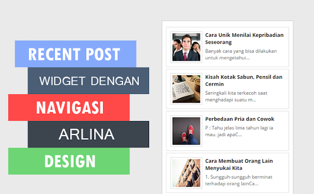 Recent Post Widget dengan Navigasi