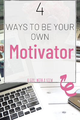 computer flower and blogger with text about how to be your own motivator