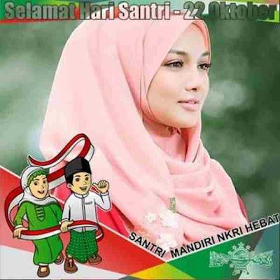 Bingkai Foto Profil Hari Santri Nasional