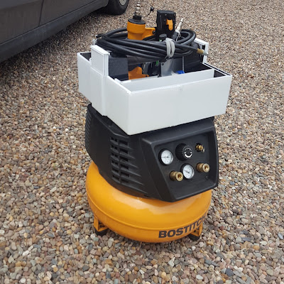 Air Compressor Tool Caddy made from Coroplast