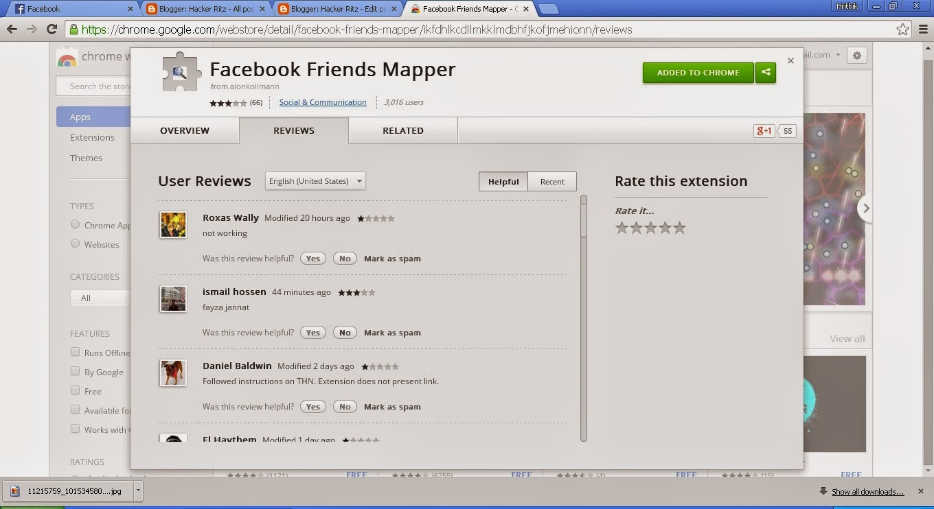Facebook friend mapper