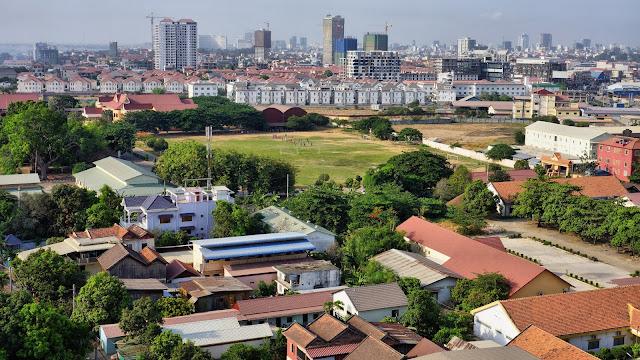 Vue aérienne de Chroy Chongva (1)