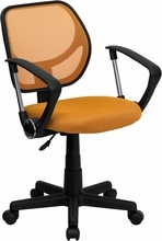 orange computer chair for students