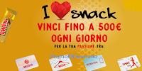 Logo I Love snack : in palio 118 voucher fino a 500€ per beni o servizi ! Anticipazione