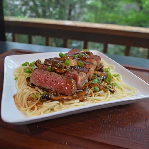Portobello Marsala Strip Steaks