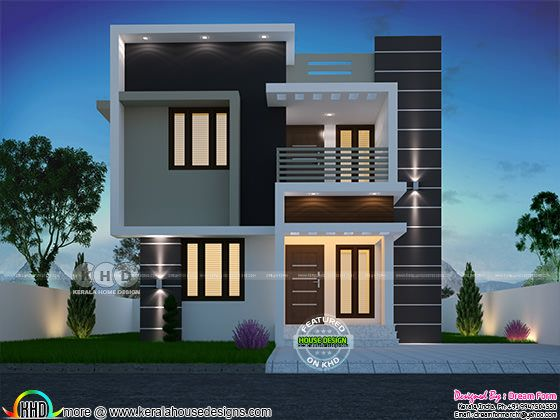 Small box model Kerala house with 3 bedrooms