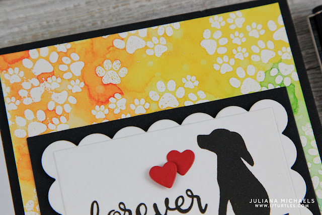 Forever Dog Sympathy Card by Juliana Michaels featuring Newton's Nook Designs Furrever Friends Stamp Set