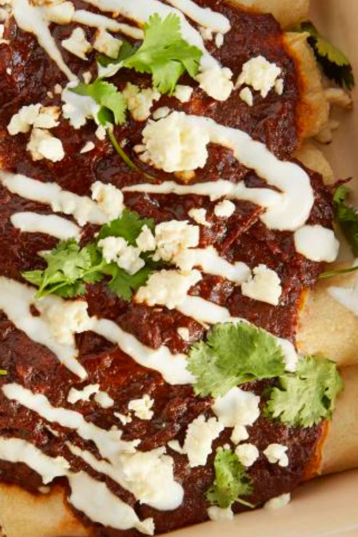 'Easiest Ever' Chicken Mole Enchiladas