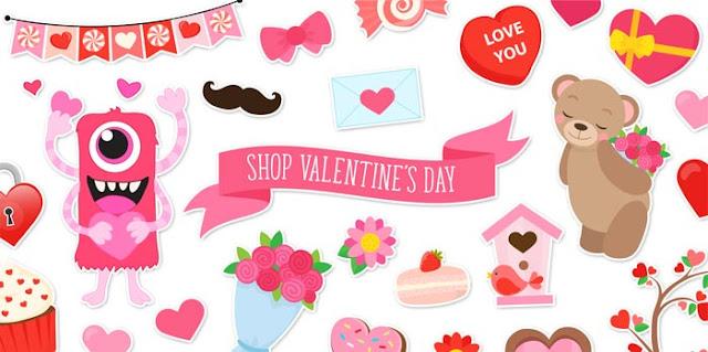 Cute and Fun Valentine's Day Clip Art and Digital Paper by La Boutique dei Colori