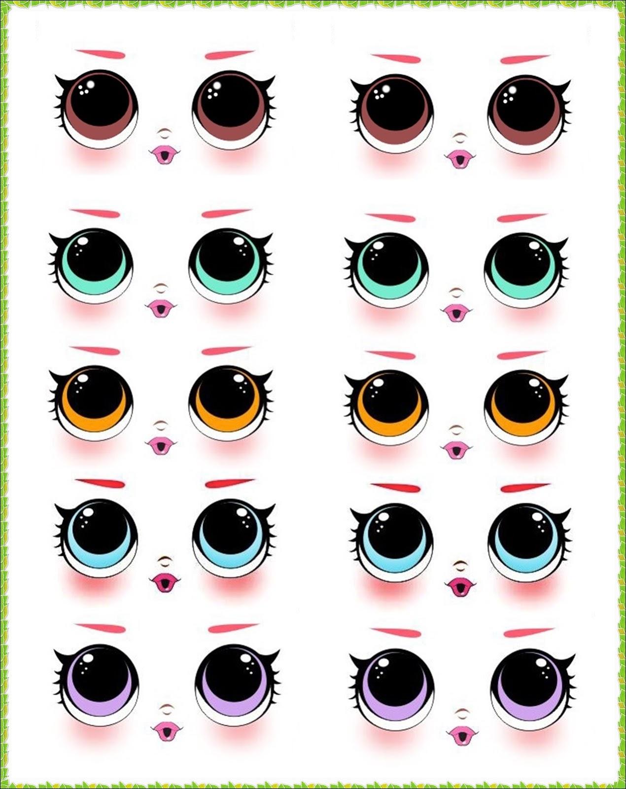Angelmix E V A Em Lembrancas Modelos De Olhos Para Imprimir