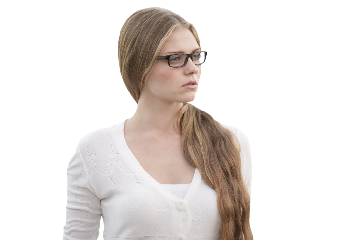 woman wearing glasses