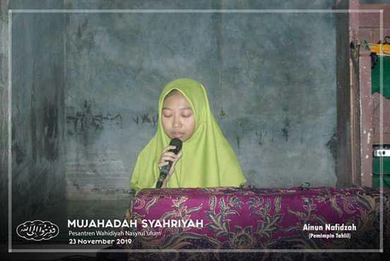 Imam Tahlil Ala Wahidiyah saudari Ainun Nafidzah