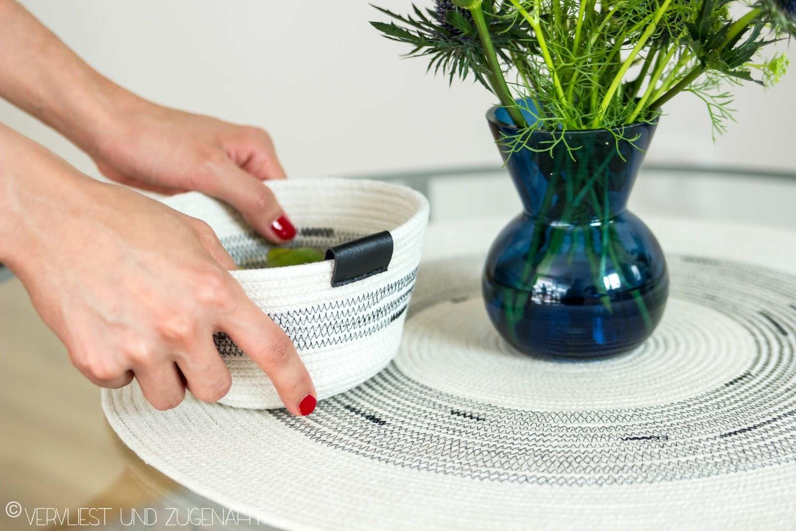 Vervliest und zugenäht: Rope Bowl und Tischläufer Set