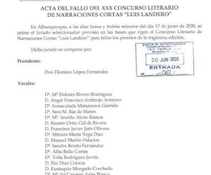 """Ganadores del Premio """"Luis Landero"""" 2020"""