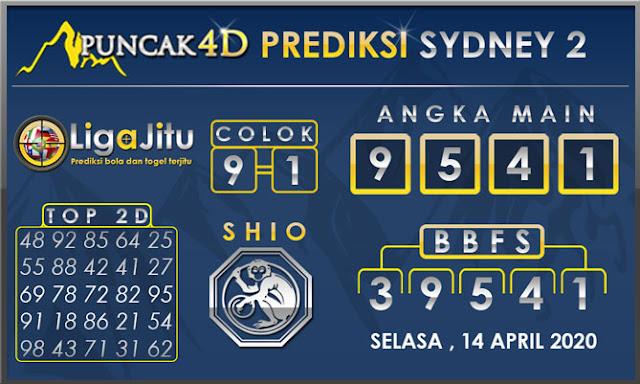 PREDIKSI TOGEL SYDNEY2 PUNCAK4D 14 APRIL 2020
